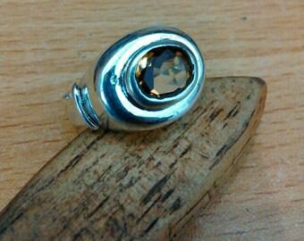 Deep Citrine Silver Ring