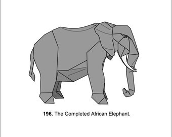 Origami African Elephant (Diagrams)