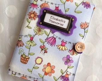 Photo Album Personalized Brag Book - Fairy Garden Fabric-holds 48 Pictures