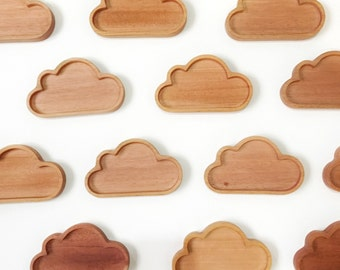 NEW Wooden Cloud Ring Dish. Jewelry Storage. Home Decor