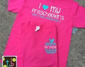 Personalized Monogram Teacher Quote Tees Teacher T-Shirt Preschool Teacher