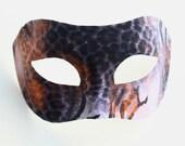 Men's Bronze Black Animal Leopard Tiger Venetian Masquerade Mask