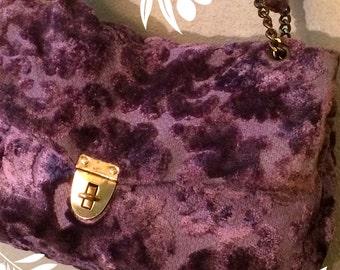 Vintage Purple Carpetbag
