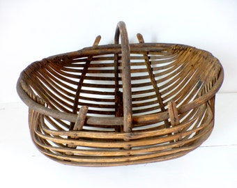 Antique French, Wooden Collecting, Oyster Basket