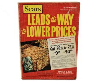 Sears Catalog, Vintage 1970 Sears Winter Sale Catalog, 1970s Fashion, Cookware, Wallpaper, Typewriters, Electronics, Paper Crafts, Ephemera