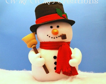 Large Plush Snowman