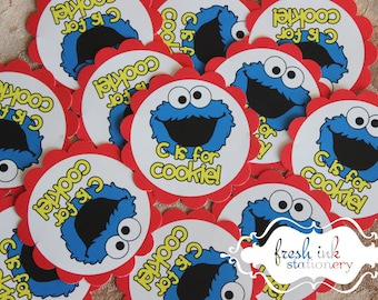 C is for Cookie Monster Stickers