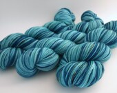 Hand Dyed Fingering/Sock Yarn, 80/20 SW Merino/Nylon, A Watery Tail