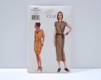 Wrap dress Vogue 7227 Tunic Skirt Never Used Sewing Pattern FF uncut Size 8 10 12 Minimalist Wrap Tunic and Skirt Suit Loungewear Robe Dress