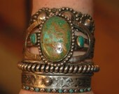 SOLD To T Beautiful Old Fred Harvey Era Navajo Royston Turquoise Bracelet Circa 1930's  47 Grams
