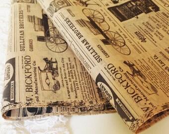 "Newsprint Tissue Reto Fun Tissue Paper 12 sheets DIY Wedding Decor Craft Supplies  20"" X 30"" Gift Wrap Favor Box Tissue DIY Pom Pom Supplies"