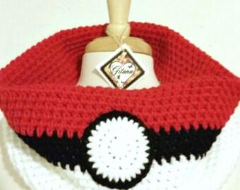 Pokemon Ball Cowl- Scarf-Pokemon-Pikachu- Pokemon Scarf-Neck Warmer- Anime-Geek-Christmas Gift-birthday Gifts-Cosplay