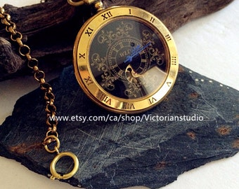 Antiqued Gold Pocket Watch Copper Steampunk Winding Mechanical pocket watch- Father of the Birde VM012