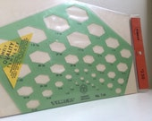 Timely Isometric Hexagons Template No. T-44 Brand New in Original Packaging