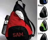 Added Capacity Personalized Sling Backpack - Gym, Sports, Baseball, Dance, Cheer, Gymnastics