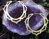 Lotus Hoop Earrings