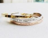 Personalized Cuff Bracelet / Custom Cuff Bracelet / Inspirational Cuff Bracelet / Bangle / Personalized Gift / Hand Stamped Cuff Bracelet
