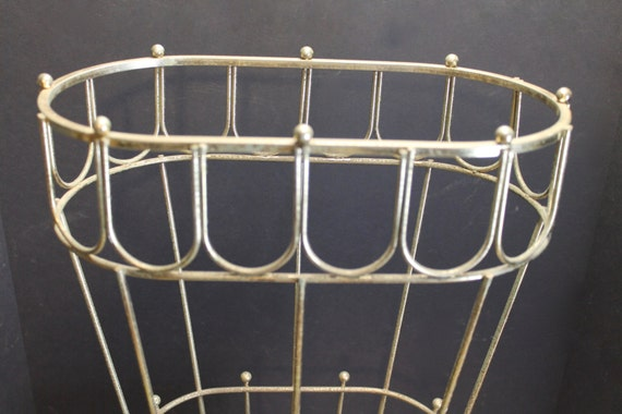 Steel Wire For Umbrella : Vintage s or metal wire umbrella stand mid century