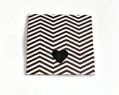 black and white chevron handmade mini note cards, tri fold mini cards, envelope style mini note cards, thank you notes, gift enclosures
