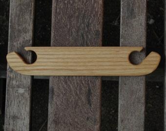 Fancy Card Weaving Shuttle - Ash Wood