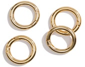 "Miche Gold Carabiner Rings 1"" or 1.5"" Push Gate Open Set of 4"
