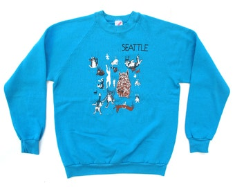 Sale - Seattle Raining Dogs Sweater Sz L