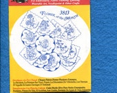 Aunt Martha's 3813 Flower of the Month Tea Towel Embroidery Transfer UNCUT