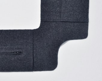 Rug Hooking Sleeve Saver for Medium (Puritan) frame in Dark Gray Heather