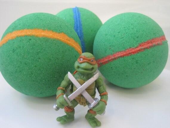 Ninja Turtle Bathroom | Free Shipping Ninja Turtle Bath Bombs With Toy Figure