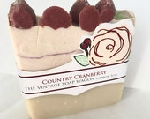 Country Cranberry Handmade Soap with Tussah Silk and Cocoa Butter