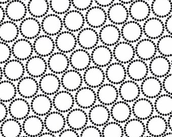 ON SALE - Mini Pearl Bracelets in Licorice - Lizzy House for Andover Fabrics - A-7829-AK - 1/2 Yard