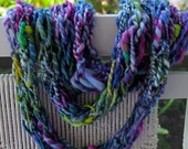 GIFT SALE Hand Knit Bulky Cowl Scarf combo, in Pink, Purple, Blue, Green and more, Super Soft Handspun Wool Yarn