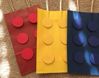 Lego Inspired Goody Bags, Party Bags, Lego Gift Bags