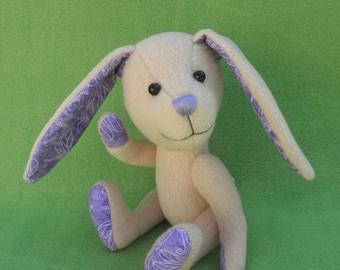 Aster - Tan Easter Bunny, Artist soft sculpture rabbit, plush rabbit