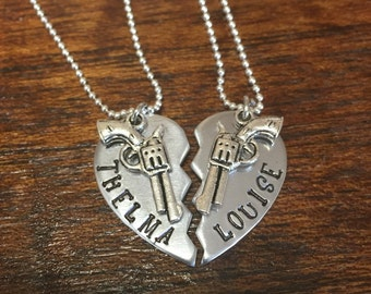 Thelma and Louise necklace set