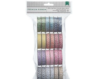 SALE 24 Rolls of Brightly Colored Bakers Twine in 12 colors - 2 Spools Each Value Pack - 366303