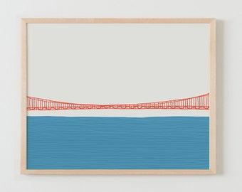 Fine Art Print.  Golden Gate Bridge. March 24, 2015.