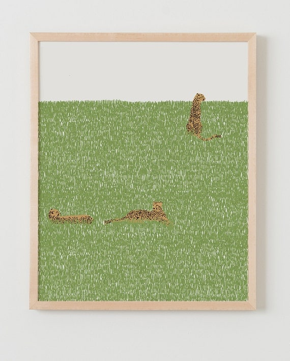 Fine Art Print. Cheetahs in the Grass. March 16, 2015.