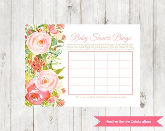 Printable Baby Shower Bingo | Garden Party Shower Game | Baby Sprinkle Bingo Game