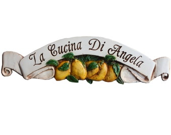 Lemon Decor Large Door Topper Personalized with your name or phrase