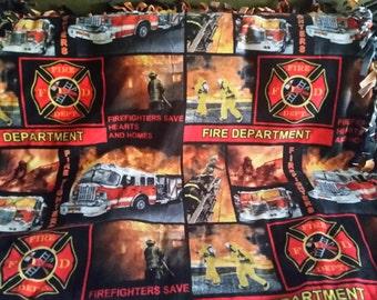 Firefighters Fleece Tie Blanket