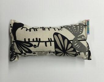 black & white flowers and birds catnip pillow