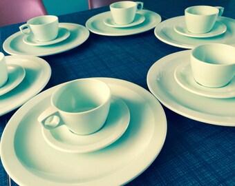 Vintage Texas Ware Dishes Set of Six Sea Foam