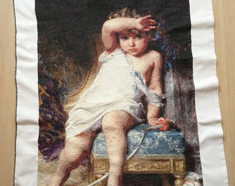 Finished / Completed Cross Stitch - Exclusive - Emile Munier - The Broken Vase - Cross stitch collectables