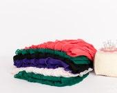 Small Ruffle Fabric Scrap Bag - 1 inch Ruffle Fabric Scraps | Approx. 8+ inches each | Bold Colors - item 7