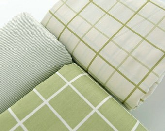 Quilting Cotton Fabric for craft, Twill Cotton Fabric, Simple Gingham Style, Decor Fabric 1/2 Yard (QT617)