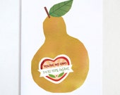 You're no GMO, You're 100% Organic Valentines Day Card