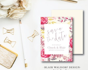 Blair Waldorf Design | Wedding Save the Date | Blair Waldorf Invitation | Printed by Darby Cards Collective