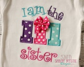 I am the Lil sister-Little sister shirts-little sister onesies