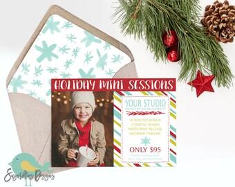 Holiday Mini Sessions PHOTOSHOP TEMPLATE - Mini Photoshoot 36
